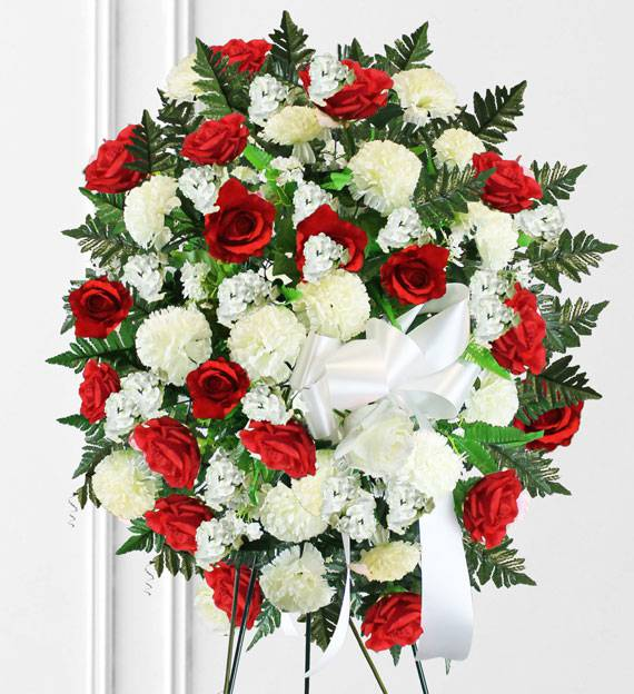 Red white sympathy spray funeral flowers philippines red white sympathy spray funeral flowers mightylinksfo
